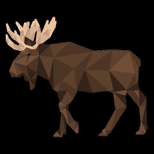 Elk antler moose hoof low poly