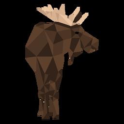 Elk moose antler hoof low poly