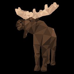 Elk moose hoof antler low poly