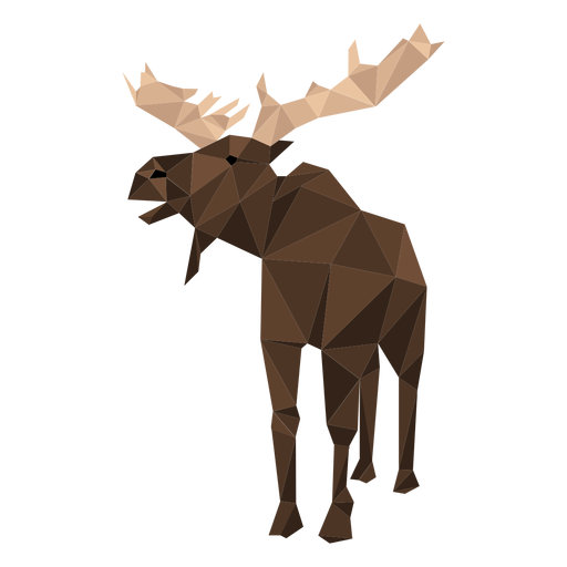 Elch Elch Huf Geweih Low Poly Transparent PNG