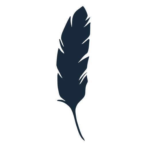 Feather bird down silhouette Transparent PNG