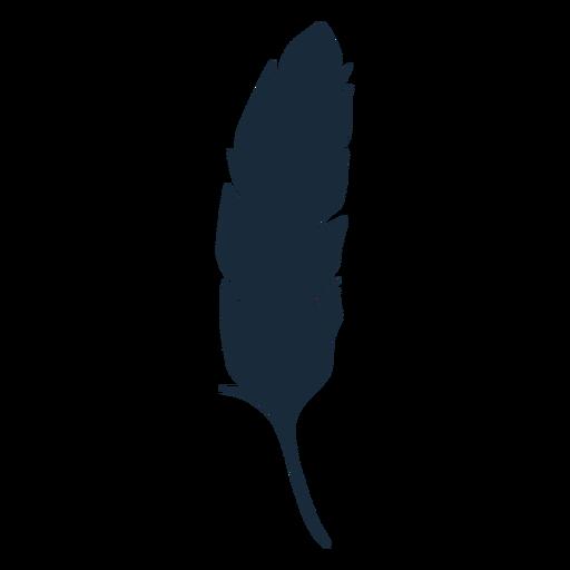 Pluma pájaro abajo silueta