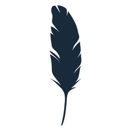 Feather silhouette Transparent PNG