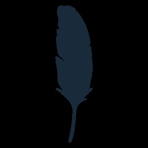 Silueta de pluma