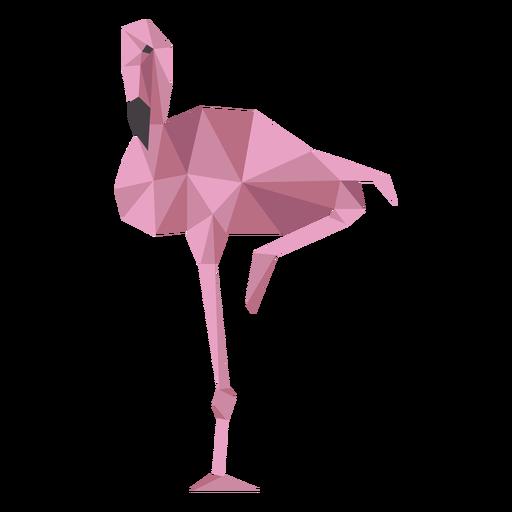 Flamingo beak pink leg low poly Transparent PNG