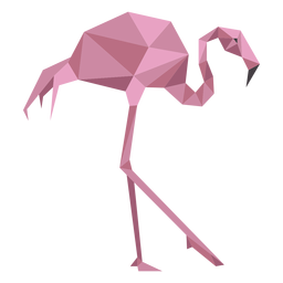 Flamingo pink beak leg low poly