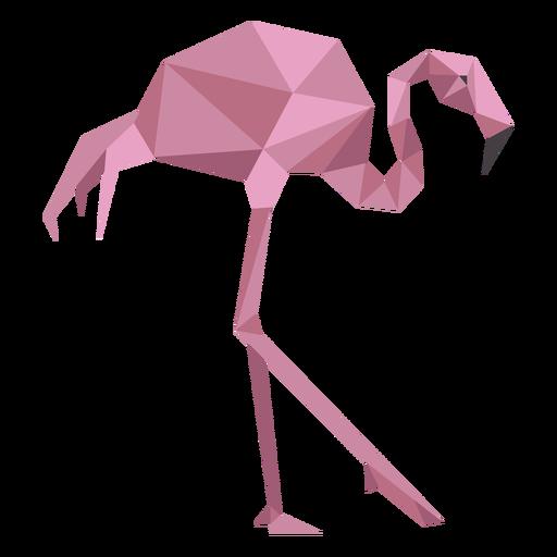 Flamingo pink beak leg low poly