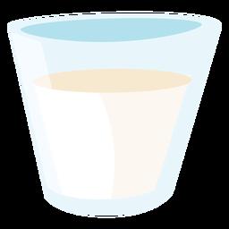 Glas Milch flach