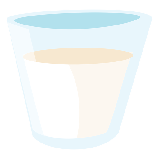 Glas Milch flach Transparent PNG