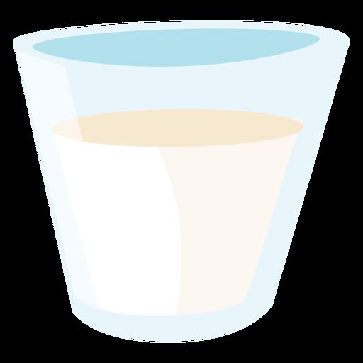 Vaso de leche plana Transparent PNG