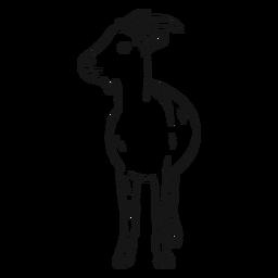 Boceto de pezuña de cuerno de cabra