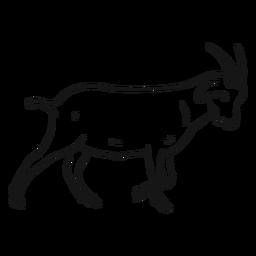 Boceto de cola de pezuña de cuerno de cabra