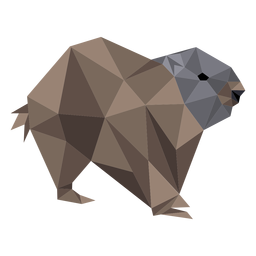 Marmota de cerdo molida cola de piel baja poli