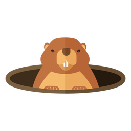 Tierra de cerdo marmota boca agujero piel plana
