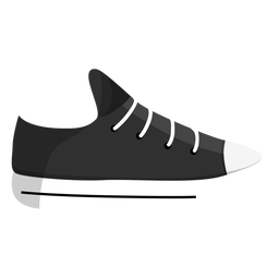 Gymshoes plimsoll jogging shoe trainers lace sneaker illustration