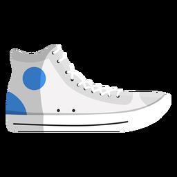 Gymshoes plimsoll sapatilhas de corrida sapatilha rendas ilustração