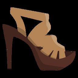 Heel strap sandal mule open toe sandal heel flat