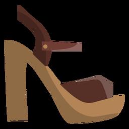 Heel strap sandal open toe sandal mule heel flat
