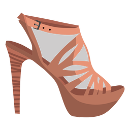 Sandalia de correa de talón sandalia de punta abierta mula tacón de aguja tacón de aguja ilustración de hebilla
