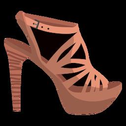 Talón correa sandalia punta abierta sandalia mula pico tacón estilete talón hebilla ilustración