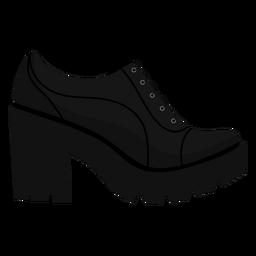 Sapato de salto sola em renda plana