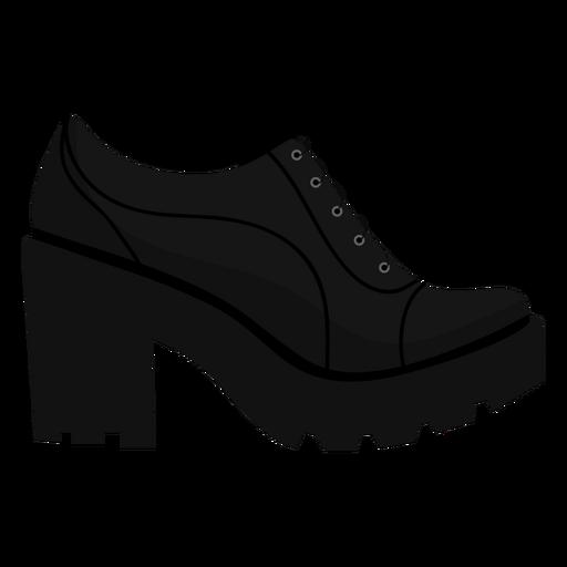 Sapato de salto sola em renda plana Transparent PNG