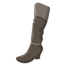 Hessian boot heel illustration