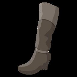 Ilustración de tacón de bota de arpillera
