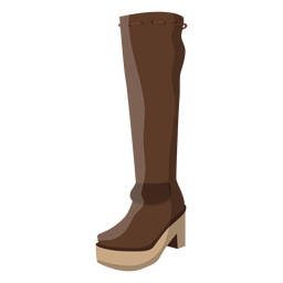 Hessian boot heel lace illustration