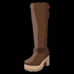Ilustração em renda de salto de bota de juta