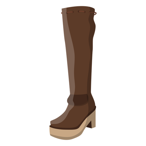 Hessian boot heel lace illustration Transparent PNG