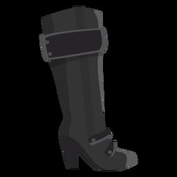 Bota de arpillera bota alta tacón plano