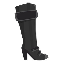 Bota de Hessian bota de salto alto plana