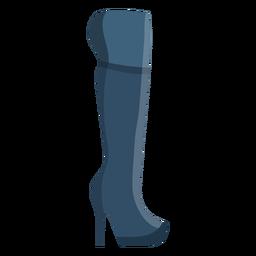 Bota de tacón alta bota de arpillera plana