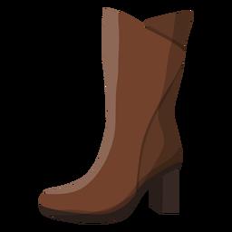 High boot heel illustration