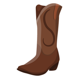 High boot heel pattern illustration