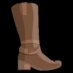 High boot heel toe flat