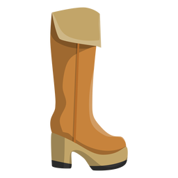 Bota alta bota de arpillera talón plano
