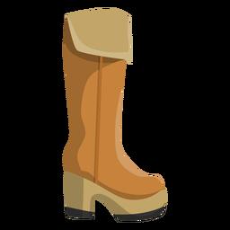 High boot hessian boot heel flat