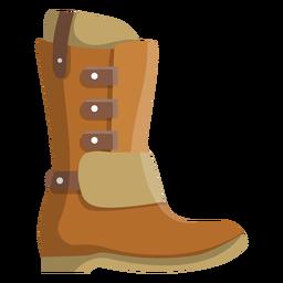 Suela de bota alta plana