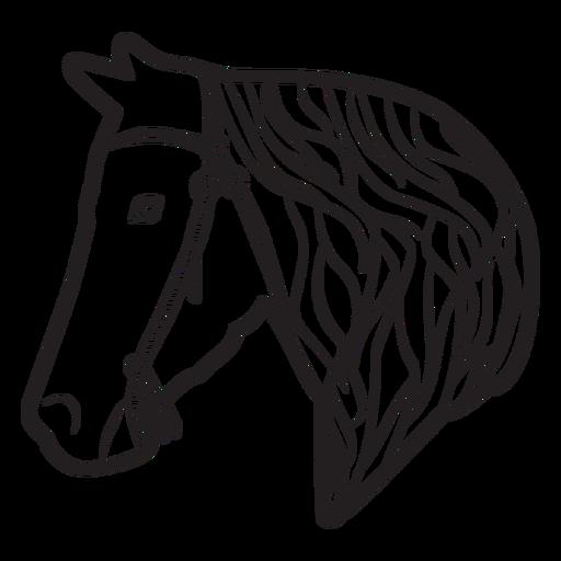 Horse mane bridle illustration Transparent PNG
