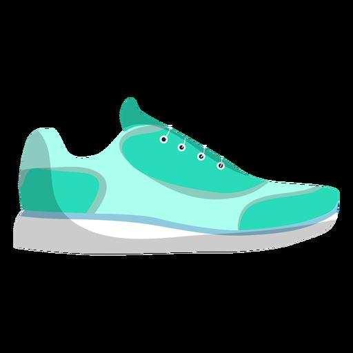 Zapatillas deportivas de zapatillas de cordones para correr planas. Transparent PNG