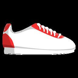 Ilustración de zapatillas de deporte de cordones de zapatos para correr
