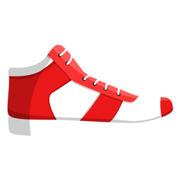 Ilustración de zapatilla de deporte de cordones de zapatillas de jogging