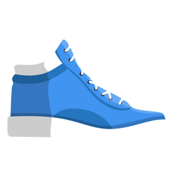 Jogging shoe trainers sneaker lace illustration
