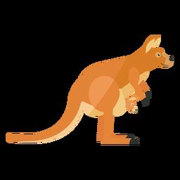 Canguro bebé canguro oreja cola pierna plana