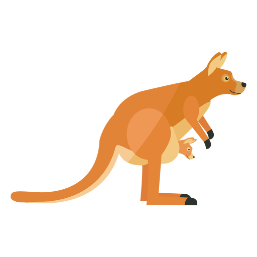 Kangaroo baby kangaroo ear tail leg flat Transparent PNG