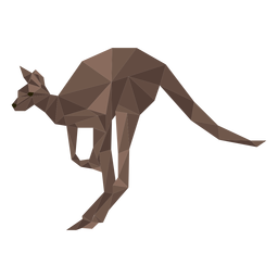 Kangaroo ear leg tail low poly