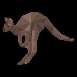 Kangaroo ear leg tail low poly