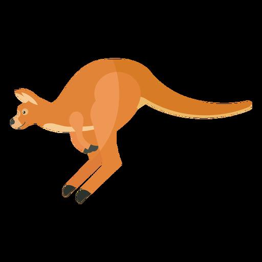 Kangaroo ear tail leg jump flat Transparent PNG